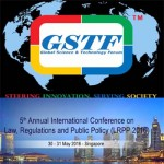 5th Annual International Conference on Law, Regulations and Public Policy by GSTF