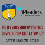 One Day Policy Workshop on Foreign Contribution Regulation Act by iPleaders