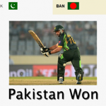 ICC T20 World Cup 2016- Pakistan Won against Bangladesh in the match at Kolkata's historic Eden Gardens