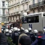 Police to Deploy water Cannon relating to Belgian riot against 'Fascists in Brussels