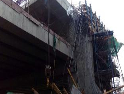 Lucknow metro construction falls